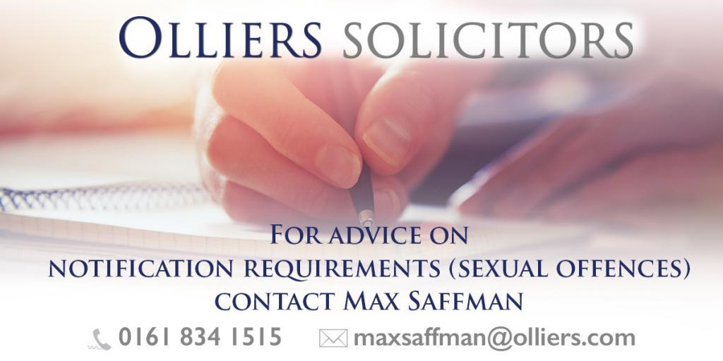 Sex Offenders Register - notification requirements